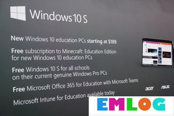 Win10 S与Win10专业版/家庭版有何区别?一张图告诉你