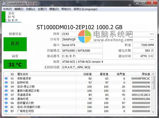 CrystalDiskInfo,硬盘坏道检测工具,CrystalDiskInfo绿色便携版,磁盘检测,磁盘修复,磁盘诊断,硬盘检测,硬盘诊断,固态硬盘检测,固态硬盘跑分,磁盘温度查看,硬盘温度查看,硬盘坏道修复工具,固态硬盘检测,如何检测硬盘,hd tune pro 硬盘检测工具,硬盘检测工具,硬盘修复工具