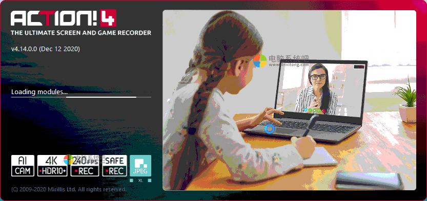 Mirillis Action4,高清屏幕录像软件,游戏和屏幕录制软件,屏幕录像软件,屏幕捕捉工具,游戏录制工具,高清视频录制器,超清屏幕录制工具,屏幕录像机
